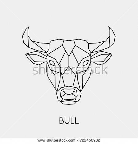 Small Simple Bull Tattoo Designs (165)