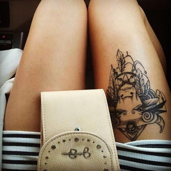Small Simple Bull Tattoo Designs (177)