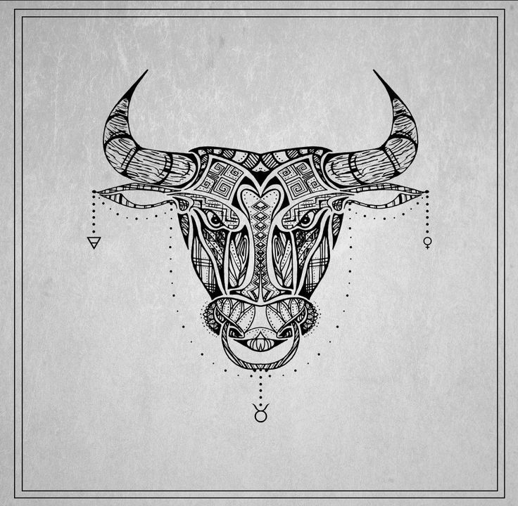 Small Simple Bull Tattoo Designs (180)