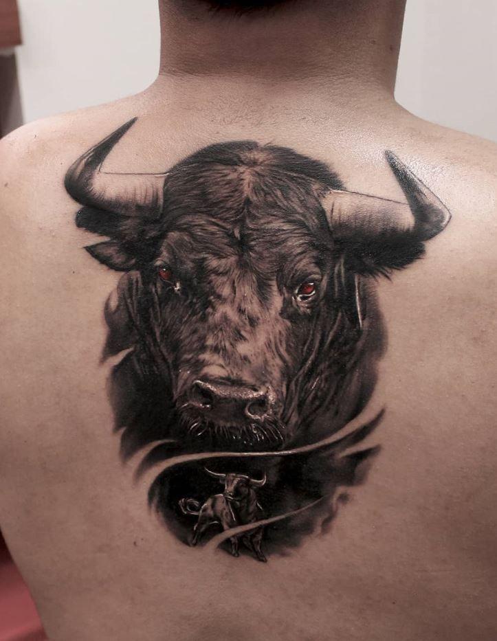 Small Simple Bull Tattoo Designs (185)