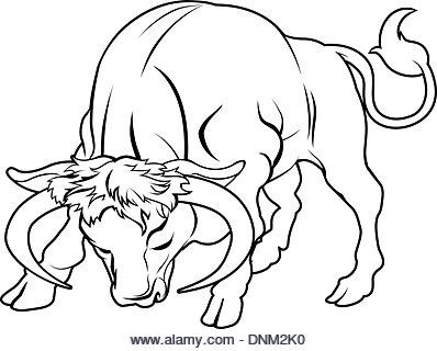 Small Simple Bull Tattoo Designs (191)
