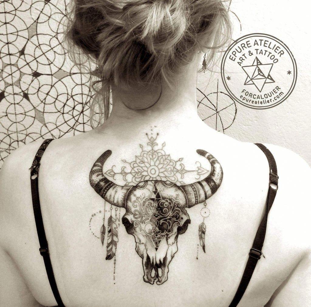Small Simple Bull Tattoo Designs (20)