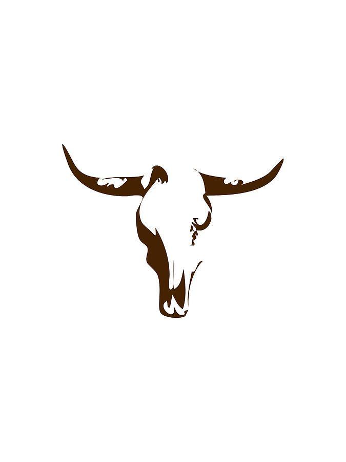 Small Simple Bull Tattoo Designs (200)