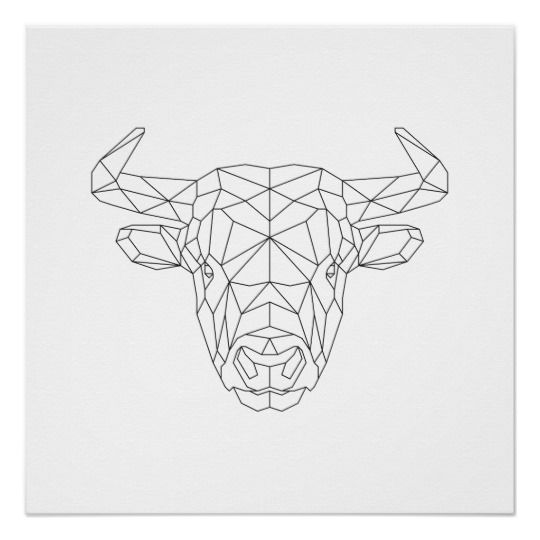 Small Simple Bull Tattoo Designs (203)