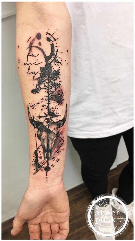 Small Simple Bull Tattoo Designs (21)