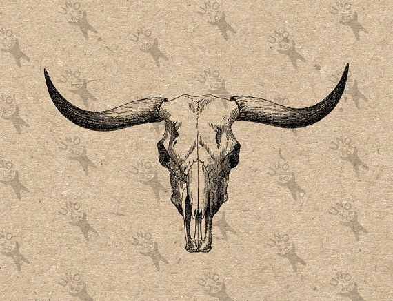 Small Simple Bull Tattoo Designs (214)
