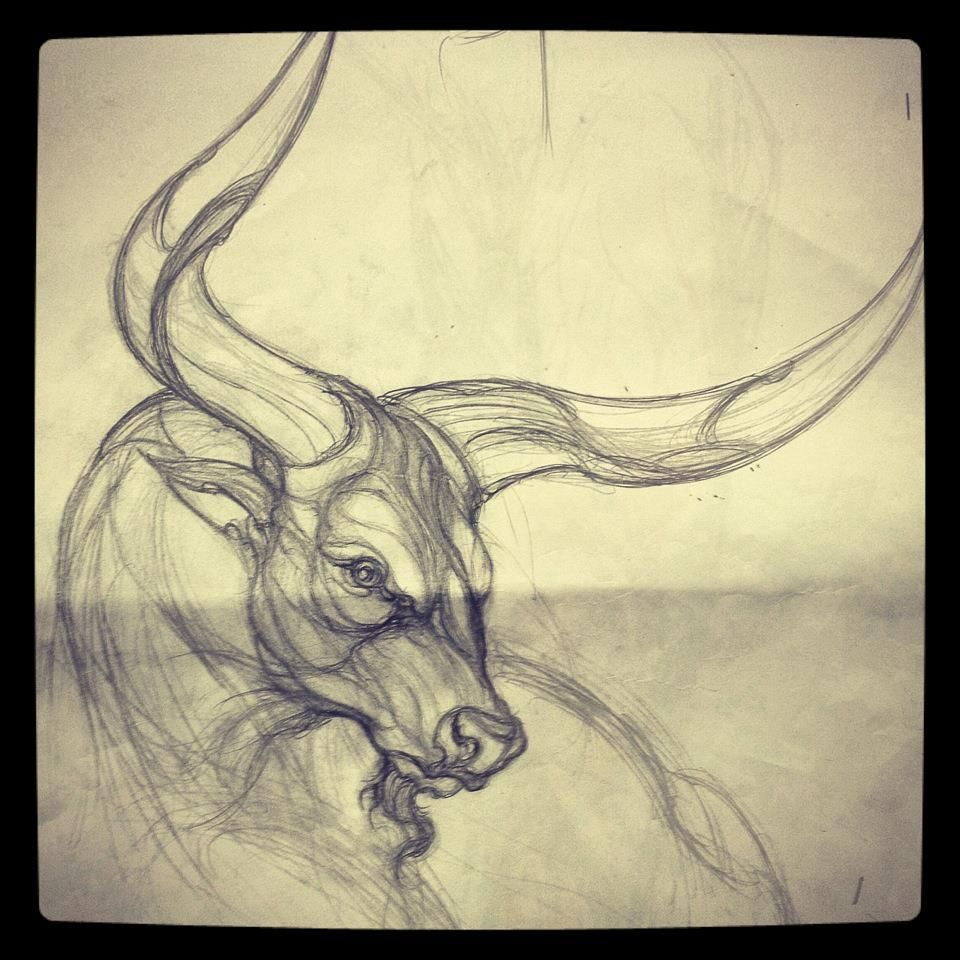 Small Simple Bull Tattoo Designs (38)