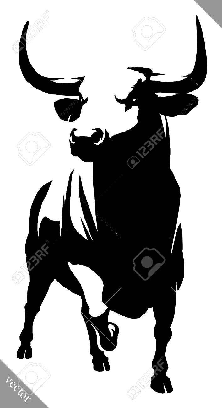 Small Simple Bull Tattoo Designs (39)