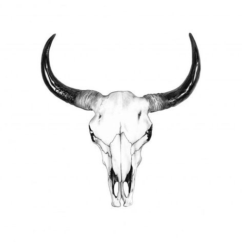 Small Simple Bull Tattoo Designs (40)