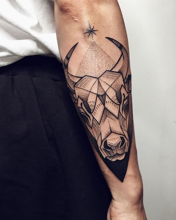 Small Simple Bull Tattoo Designs (43)