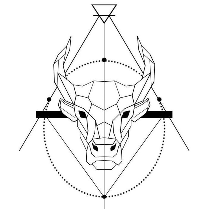 Small Simple Bull Tattoo Designs (45)