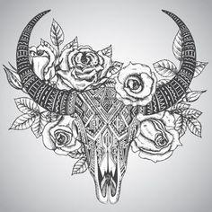 Small Simple Bull Tattoo Designs (47)