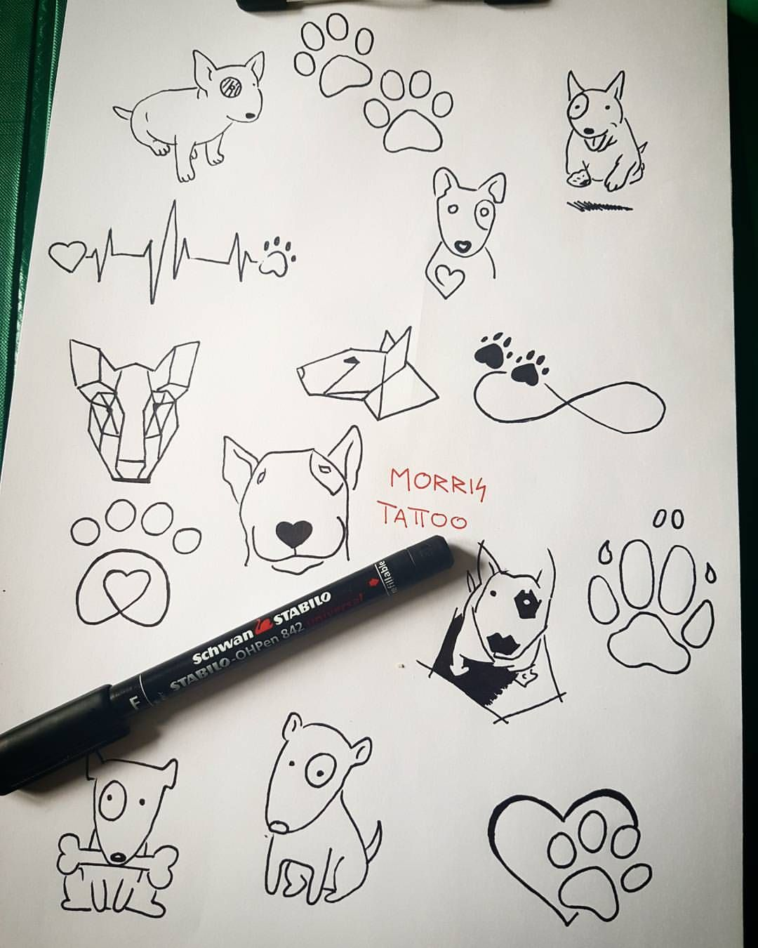 Small Simple Bull Tattoo Designs (53)