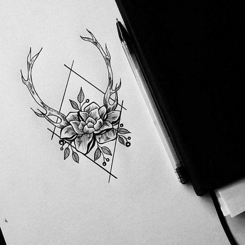 Small Simple Bull Tattoo Designs (72)