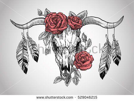 Small Simple Bull Tattoo Designs (80)