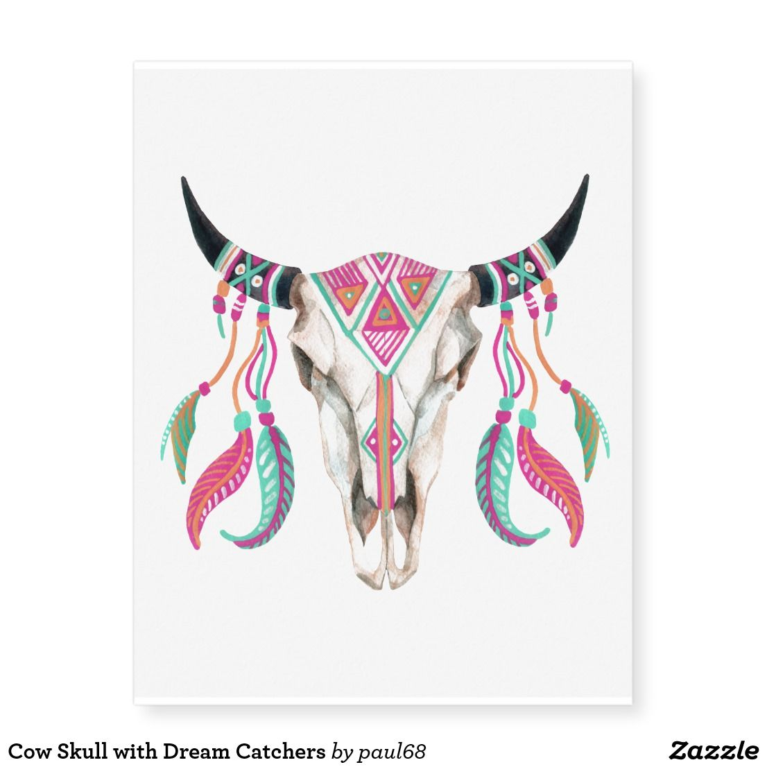 Small Simple Bull Tattoo Designs (82)