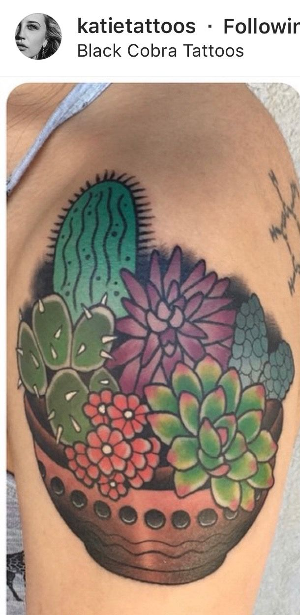 Small Simple Cactus Tattoo Designs (139)