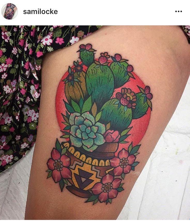 Small Simple Cactus Tattoo Designs (151)
