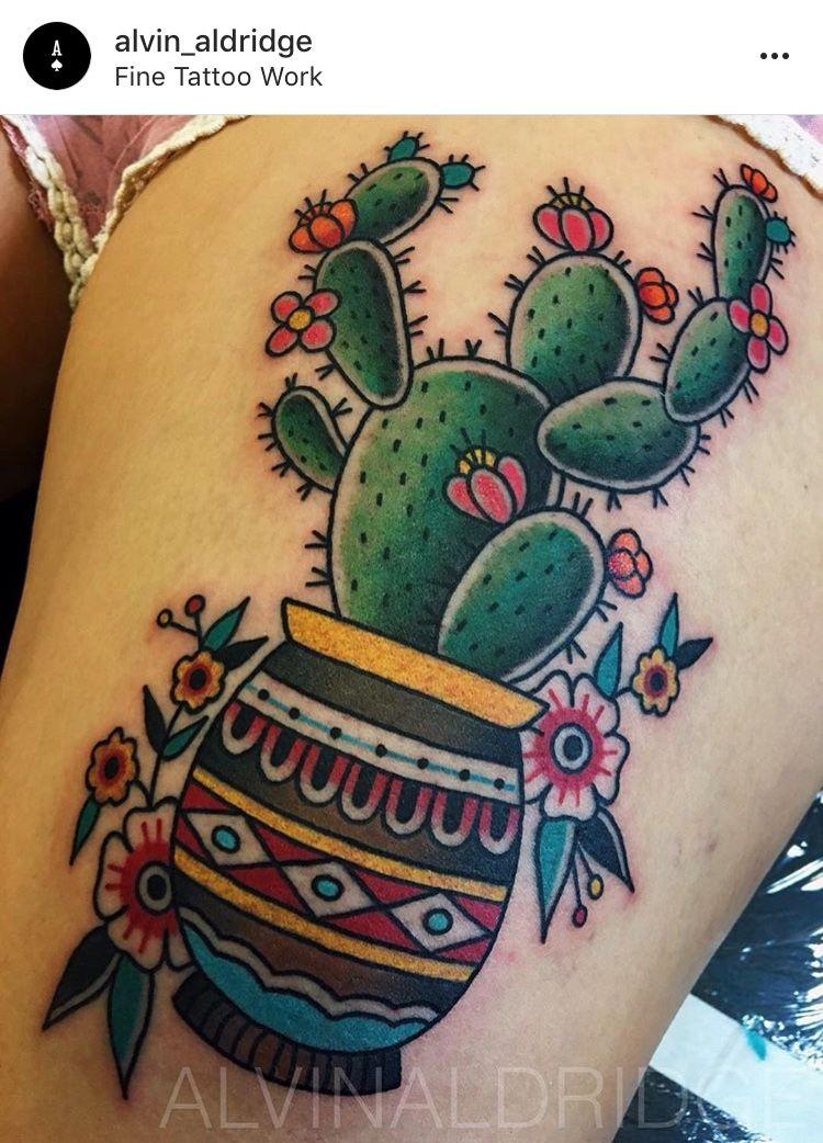 Small Simple Cactus Tattoo Designs (169)