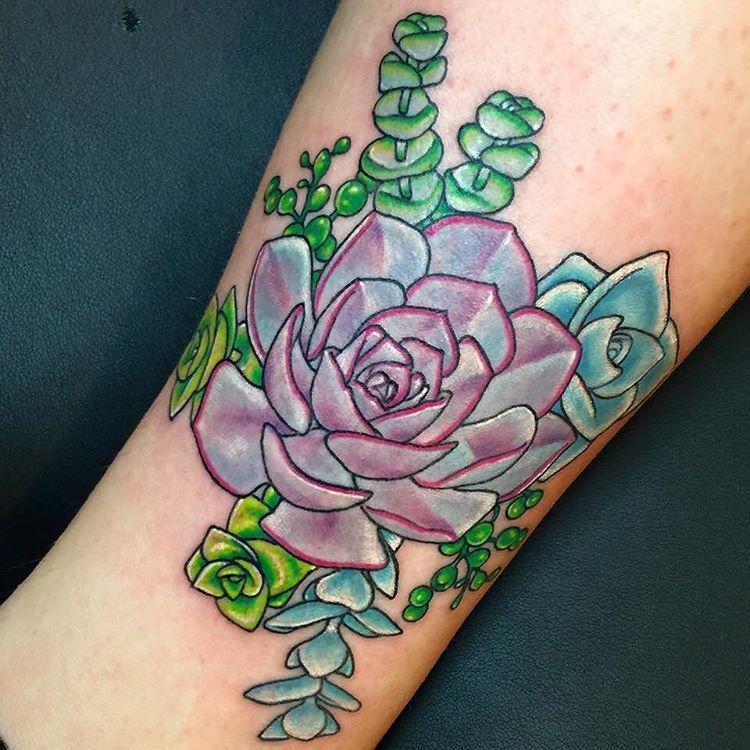 Small Simple Cactus Tattoo Designs (210)