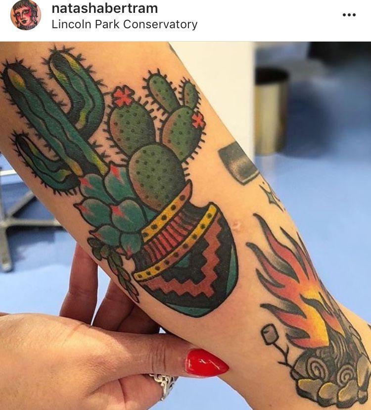 Small Simple Cactus Tattoo Designs (47)
