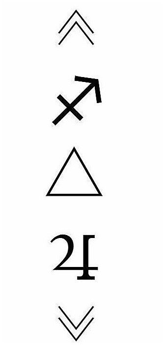 Sagittarius Horoscope Zodiac Sign Symbol (110)