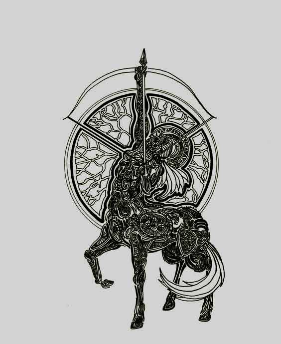 Sagittarius Horoscope Zodiac Sign Symbol (130)