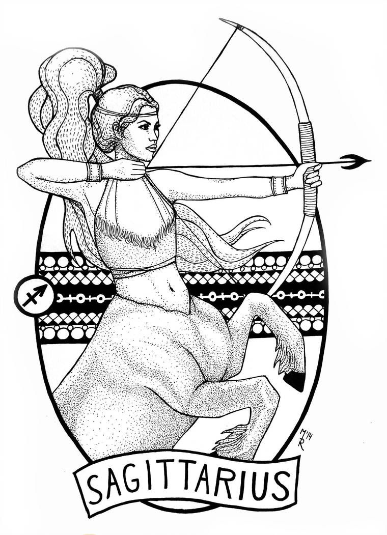 Sagittarius Horoscope Zodiac Sign Symbol (6)