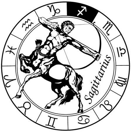 Sagittarius Horoscope Zodiac Sign Symbol (76)