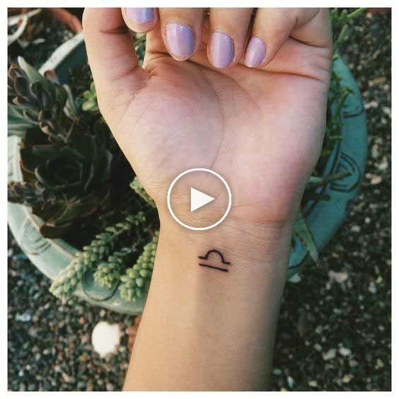 Libra Zodiac Horoscope Sign Symbol Tattoos (116)