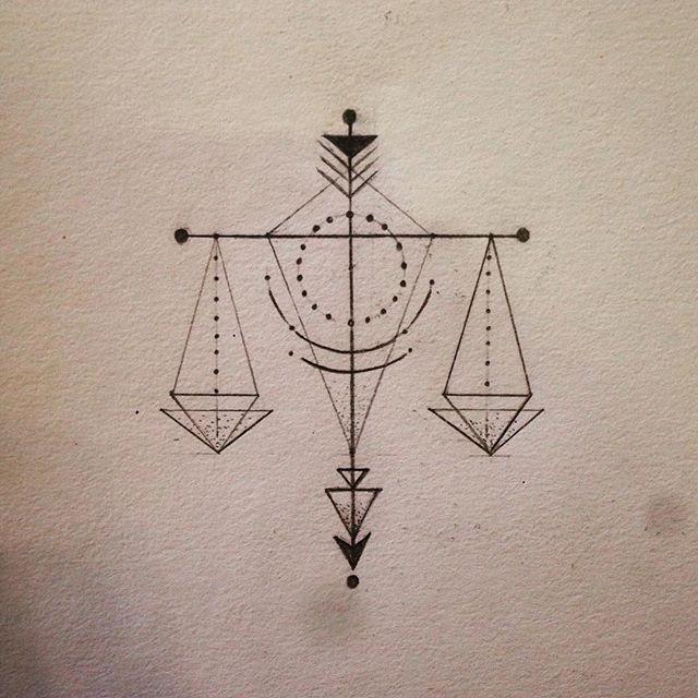 Libra Zodiac Horoscope Sign Symbol Tattoos (118)