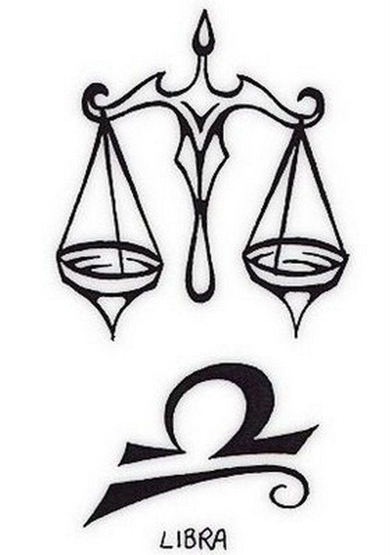 Libra Zodiac Horoscope Sign Symbol Tattoos (119)