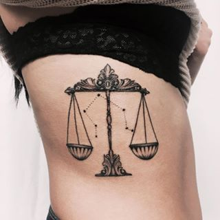 Libra Zodiac Horoscope Sign Symbol Tattoos (131)