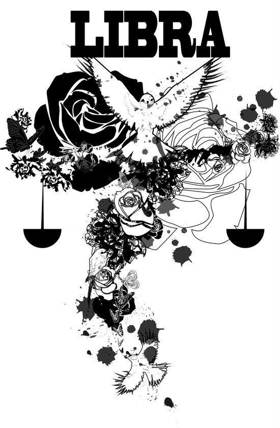 Libra Zodiac Horoscope Sign Symbol Tattoos (138)
