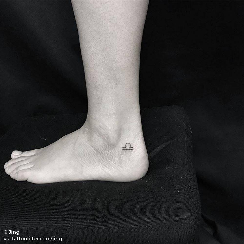 Libra Zodiac Horoscope Sign Symbol Tattoos (14)