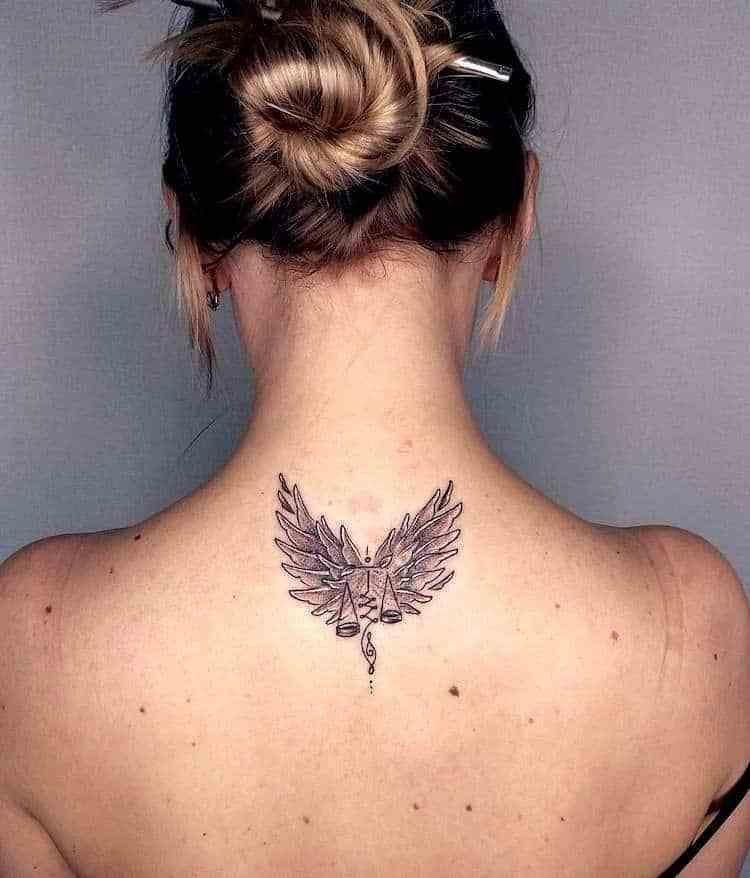 Libra Zodiac Horoscope Sign Symbol Tattoos (150)