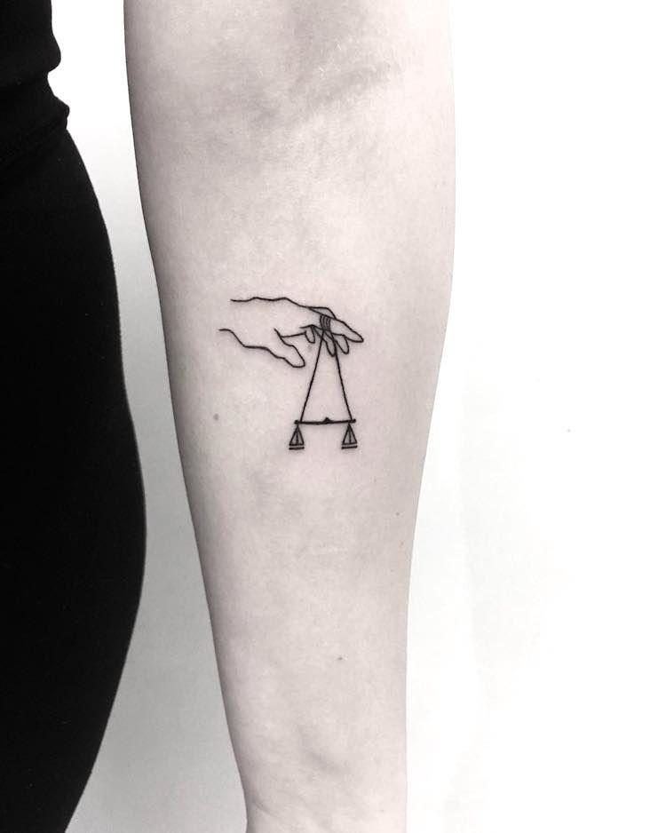 Libra Zodiac Horoscope Sign Symbol Tattoos (153)