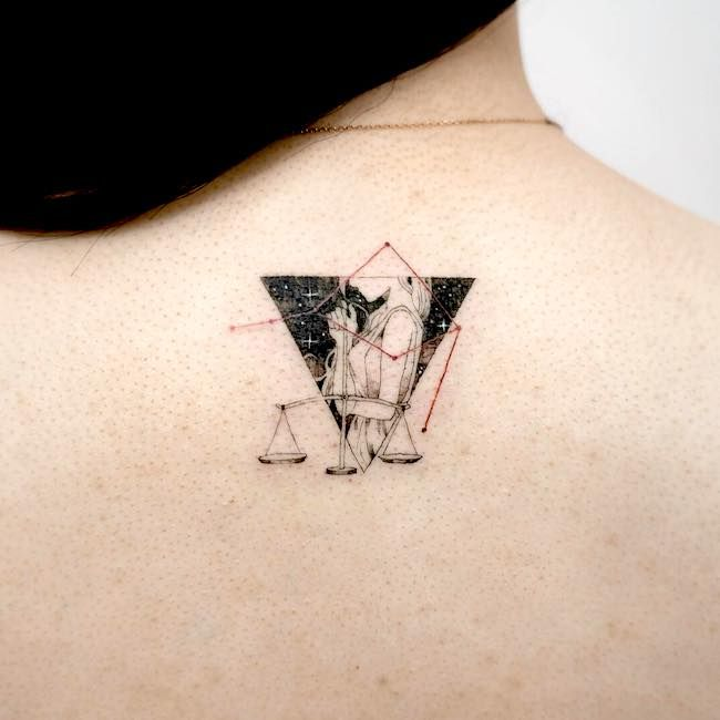 Libra Zodiac Horoscope Sign Symbol Tattoos (16)