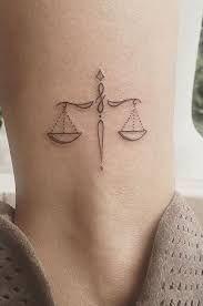 Libra Zodiac Horoscope Sign Symbol Tattoos (169)