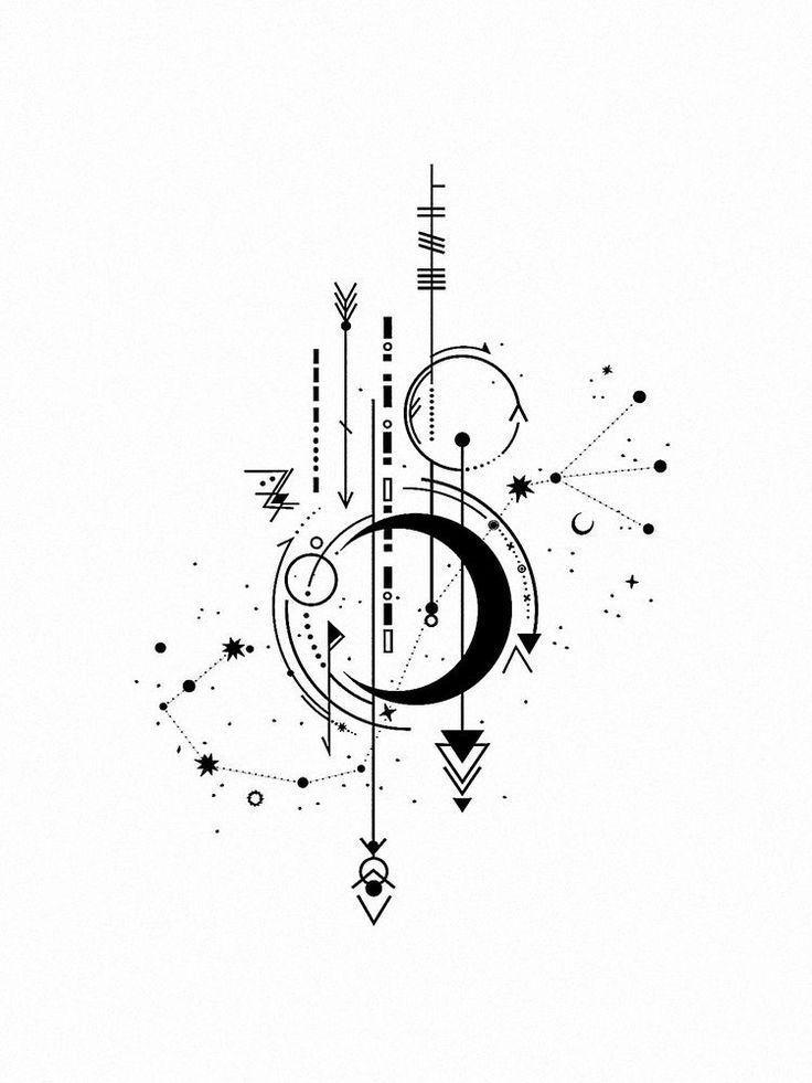 Libra Zodiac Horoscope Sign Symbol Tattoos (175)