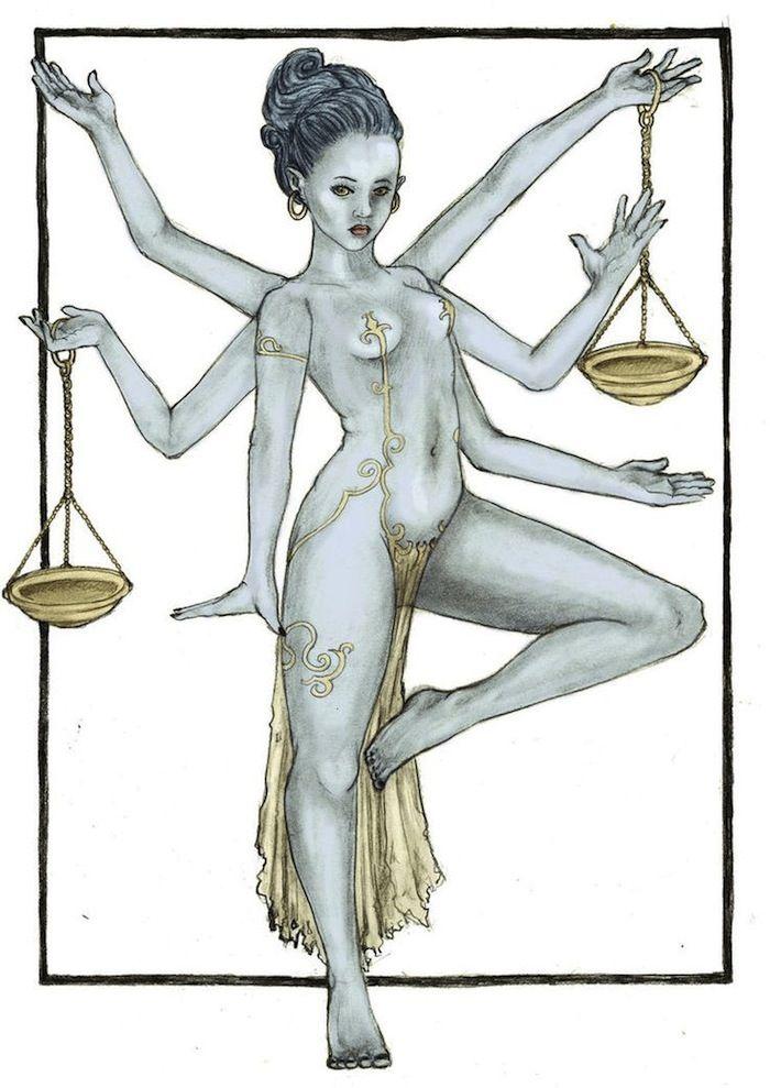 Libra Zodiac Horoscope Sign Symbol Tattoos (187)