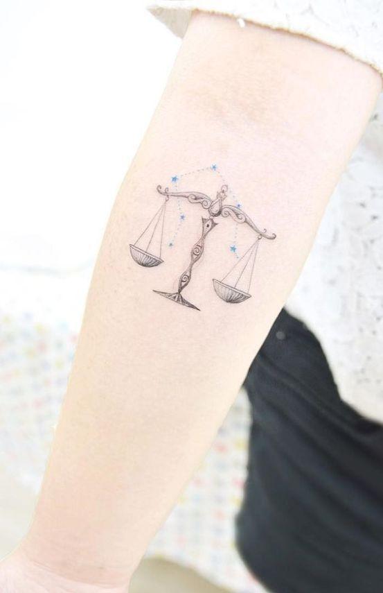 Libra Zodiac Horoscope Sign Symbol Tattoos (19)