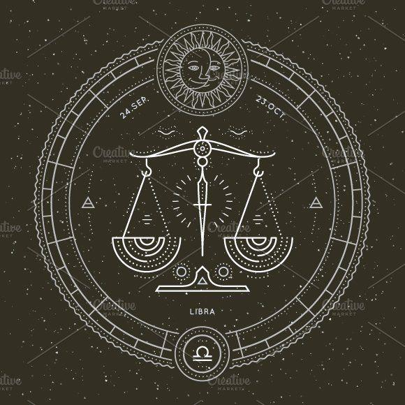 Libra Zodiac Horoscope Sign Symbol Tattoos (192)