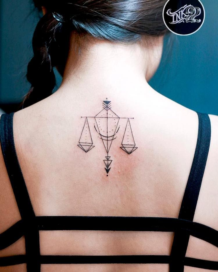 Libra Zodiac Horoscope Sign Symbol Tattoos (2)