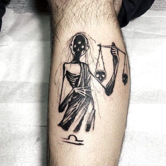 Libra Zodiac Horoscope Sign Symbol Tattoos (30)