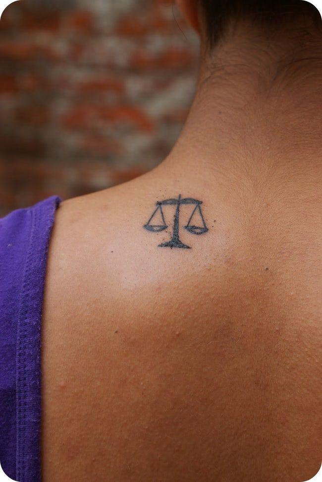 Libra Zodiac Horoscope Sign Symbol Tattoos (4)