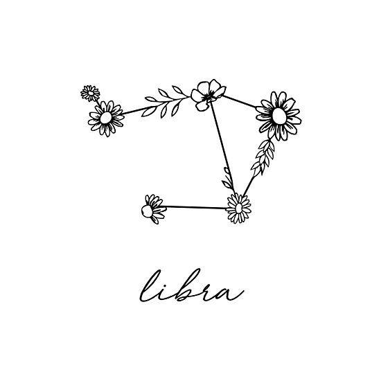 Libra Zodiac Horoscope Sign Symbol Tattoos (41)