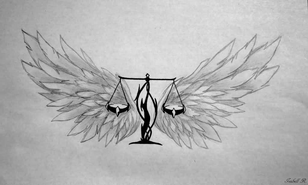 Libra Zodiac Horoscope Sign Symbol Tattoos (43)