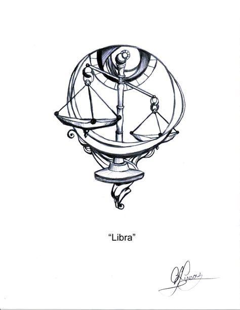Libra Zodiac Horoscope Sign Symbol Tattoos (60)