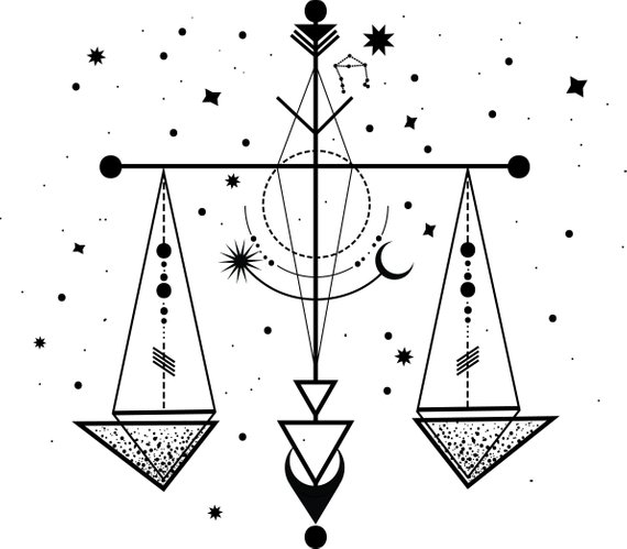 Libra Zodiac Horoscope Sign Symbol Tattoos (69)